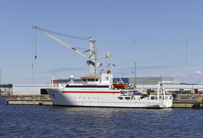 Namibian fishery research vessel RV Mirabilis, appearing in Africa PORTS & SHIPS maritime news
