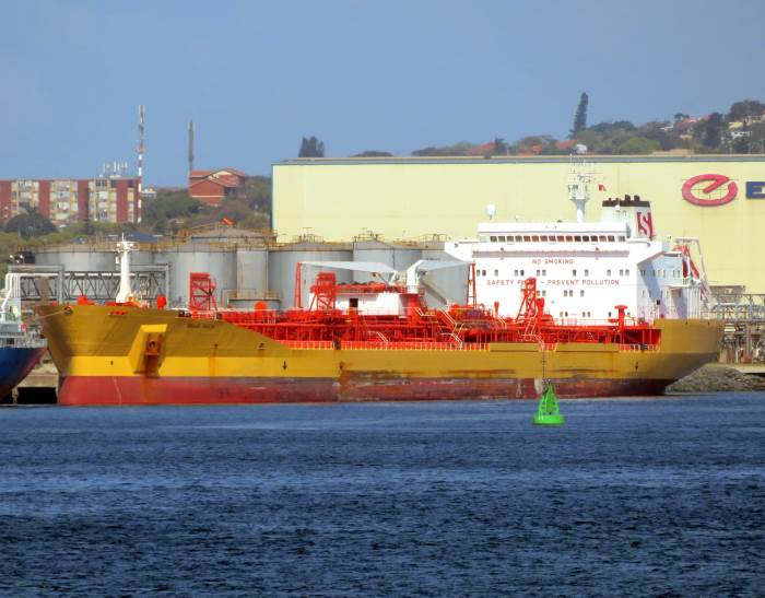 Stolt Selje on berth at Durban's Island View. Picture: Ken Malcolm, appearing in Africa PORTS & SHIPS maritime news