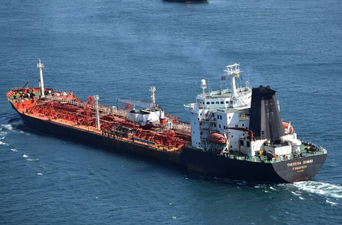 Theresa Dumai arriving Durban. Pictures: Trevor Jones, appearing in Africa PORTS & SHIPS maritime news