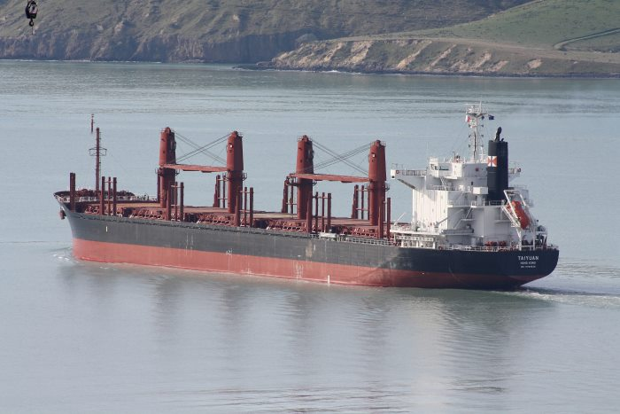 Taiyuan in Lyttelton harbour. Picture by Alan Calvert, in Africa PORS & SHIPS maritime news