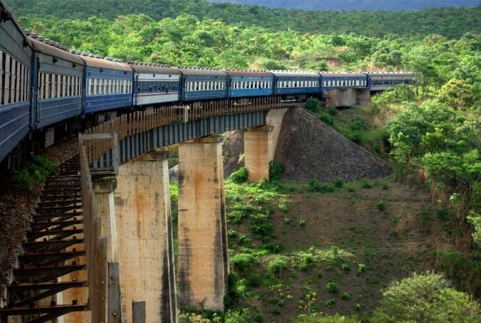 Tazara bridge crossing scene, appearing in Africa PORTS & SHIPS maritime news