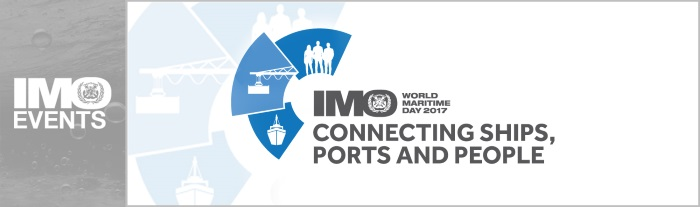 IMO World Maritime Day 2017 banner, appearing in Africa PORTS & SHIPS maritime news