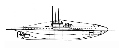 UB II type German submarine from World War 1, appearing in Afria PORTS & SHIPS maritime news