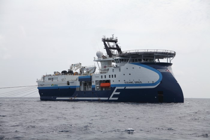 Oceanic Sirius. Picture courtesy: CGG, appearing in Afria PORTS & SHIPS maritime news