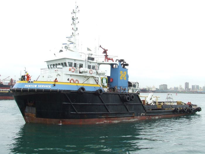 The tug PSD 2 in her days as PENTOW SERVICE and based in Durban. Picture: Terry Hutson, appearing in Africa PORTS & SHIPS maritime news