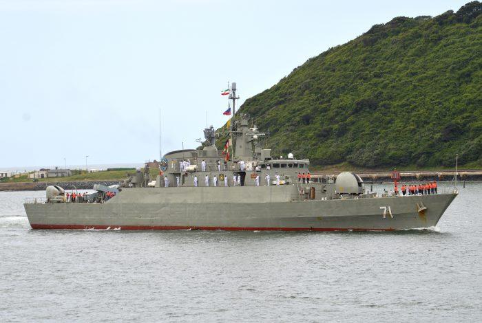 Iranian Navy frigate Alvand at Durban. Picture: Trevor Jones