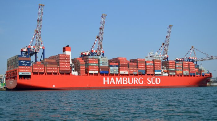 Hamburg Süd's Cap San Lorenzo in Durban harbour. Picture: Trevor Jones, appearing in Africa PORTS & SHIPS maritime news