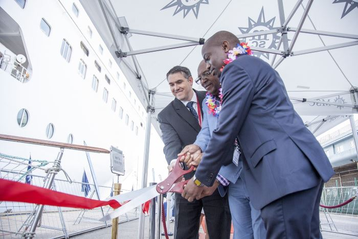 MSC SINFONIA arrived in her home port of Durban on 30 October with approximately 2300 European and South African passengers. The vessel is the first international cruise liner to visit South African ports for the 2017/18 cruise season, appearing in Africa PORTS & SHIPS maritime news