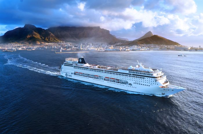 MSC Sinfonia sailing from Cape Town, appearing in Africa PORTS & SHIPS maritime news