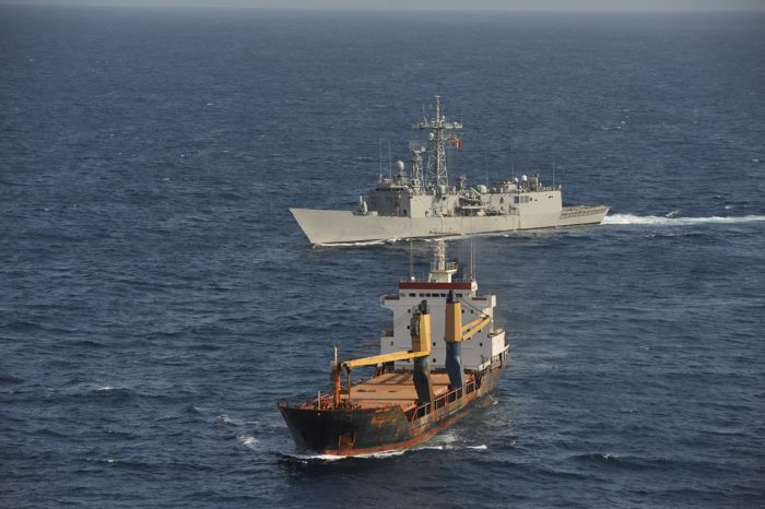 ESPS Navarra on patrol in the Gulf of Aden, appearing in Africa PORTS & SHIPS maritime news
