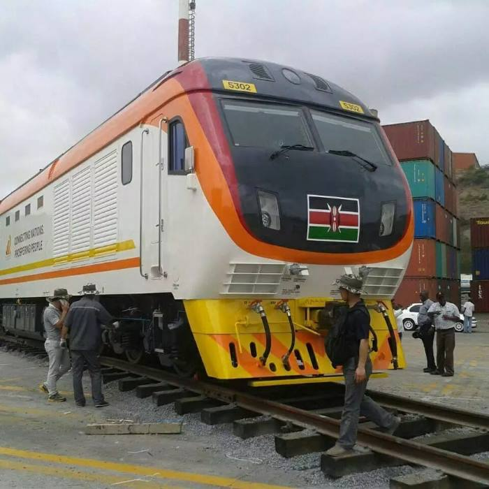New Kenya Railways SGR locomotive, appearing in Africa PORTS & SHIPS maritime news