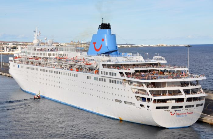 Thomson Dream, set to become Marella Dream. Picture courtesy: Shipspotting, appearing in Africa PORTS & SHIPS maritime news