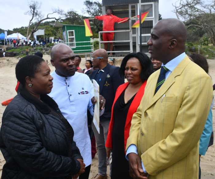 Minister of Transport, Joe Maswanganyi at Port St Johns, appearing in Africa PORTS & SHIPS maritime news