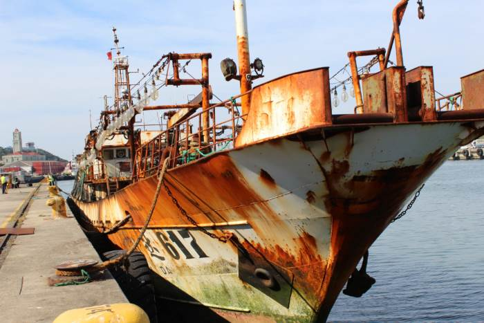 Detained Chinese fishing vessel in East London harbour, 2016. Picture: SAMSA, appearing in Africa PORTS & SHIPS maritime news