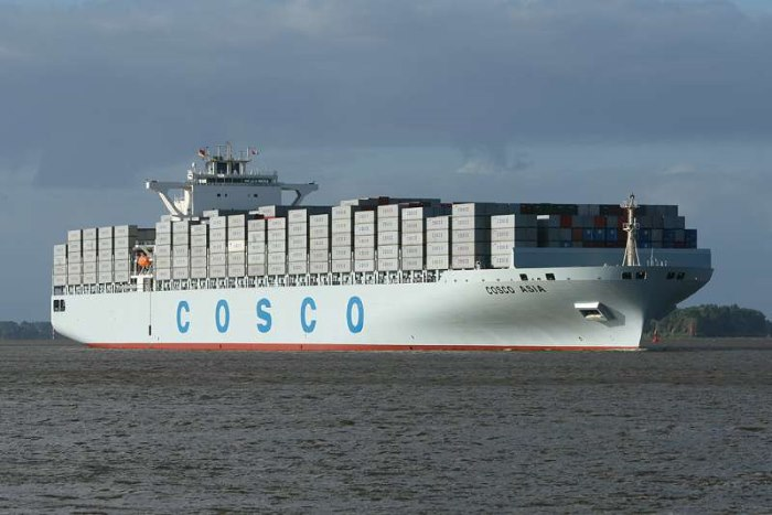 Cosco Asia (114,394-dwt), appearing in Africa PORTS & SHIPS maritime news