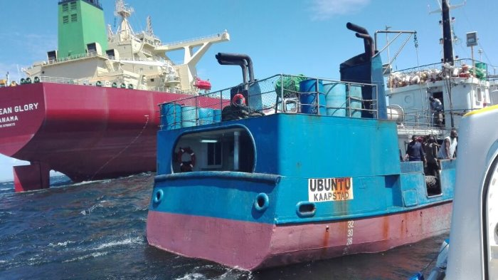 Caribbean Glory and Ubuntu. Picture: NSRI, appearing in Africa PORTS & SHIPS maritime news