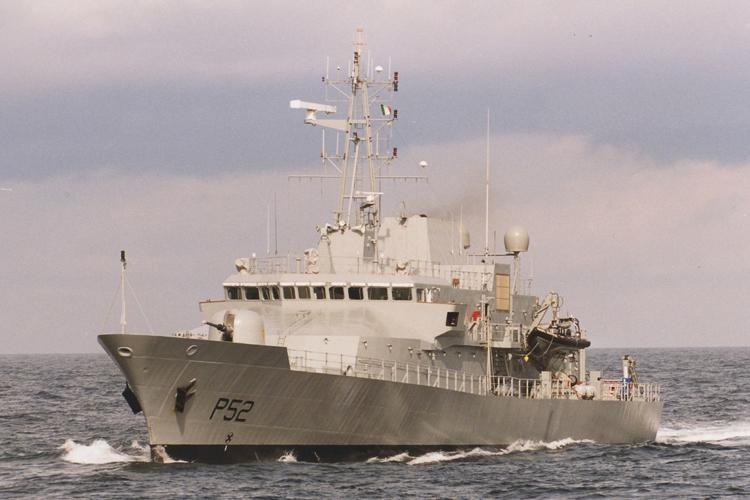 Irish Navy ship LÉ Niamh, appearing in Africa PORTS & SHIPS Maritime News