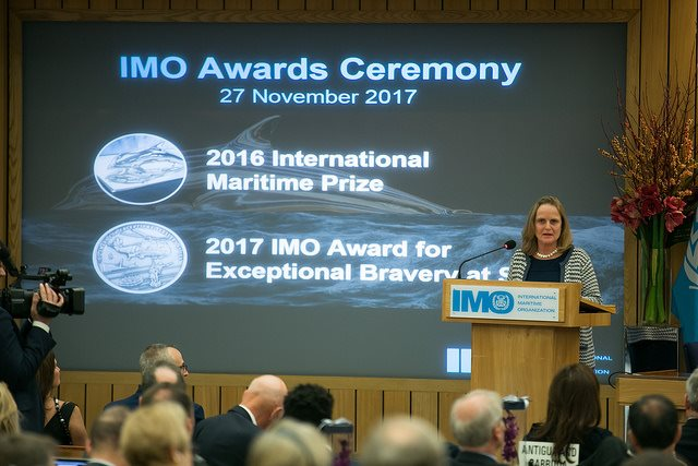 IMO Awards night in ondon, appearing in Africa PORTS & SHIPS maritime news