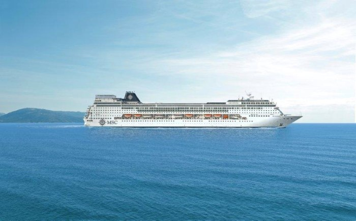 MSC Sinfonia, en route to Durban, appearing in Africa PORTS & SHIPS maritime news