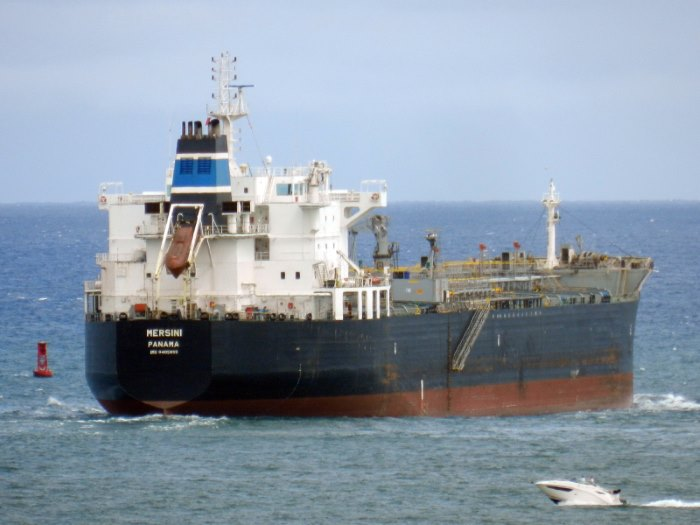The tanker Mersini. Picture: courtesy Shipspotting, appearing in Africa PORTS & SHIPS maritime news