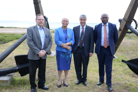 Pictured at the national Maritime Education and Training Conference at CPUT are, from left, Glenn Mattas (Wartsila Africa), Dr Cleopatra Doumbia-Henry (World Maritime University), Professor Malek Pourzanjani (SA International Maritime Institute) and Sobantu Tilayi (SA Maritime Safety Authority). Picture: Tanya Europa, appearing in Africa PORTS & SHIPS maritime news