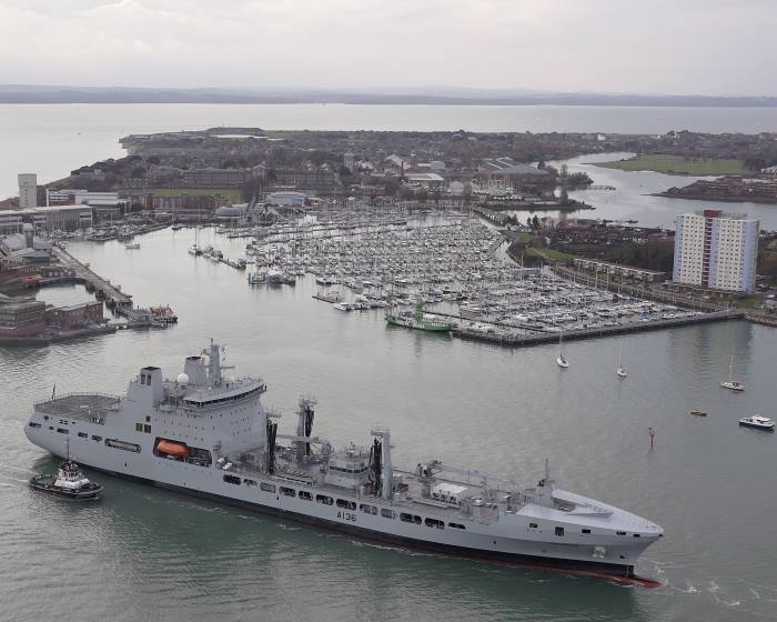 RFA Tidespring arrives Portsmouth, appearing in Africa PORTS & SHIPS maritime news