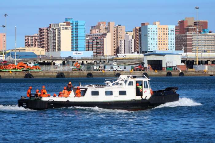 The workboat Uqoyi in Durban harbour. Picture: Keith Betts, appearing in Africa PORTS & SHIPS maritime news