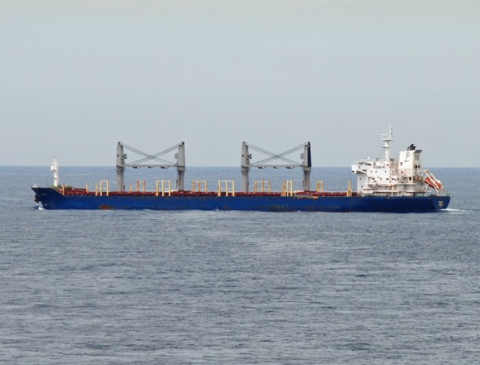Venus Bay, latest ship to be attacked by pirates in the Gulf of Guinea. Picture: Shipspotting