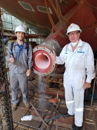 Guangzhou Wenchong Shipyard is one of a number of Chinese shipbuilders that is spearheading the return to water-lubricated propulsion, featured in Africa PORTS & SHIPS maritime news