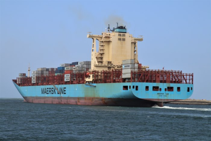 Maersk Luz. Pictures: Keith Betts, featured in Africa PORTS & SHIPS maritime news