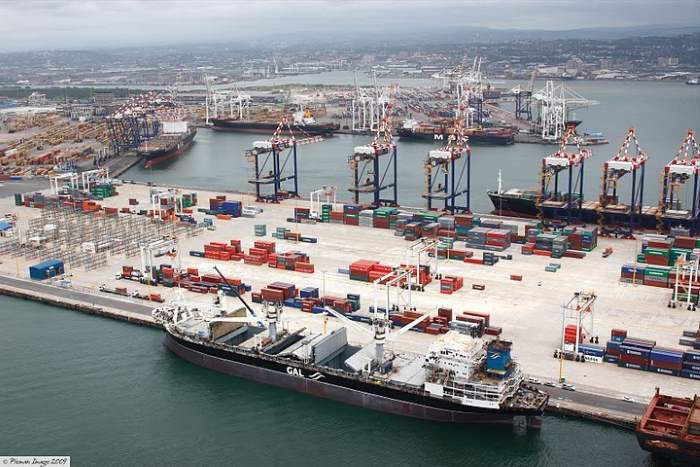 Durban's Pier 1 and Pier 2 (beyond) which won the category Best Container Terminal Productivity at the recent PMAESA Awards, featuring in Africa PORTS & SHIPS maritime news
