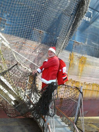 Santa goes on board, featuring in Africa PORTS & SHIPS maritime news