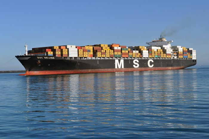 MSC Beijing in Cape Town harbour. Picture: Ian Shiffman, featured in Africa PORTS & SHIPS maritime news