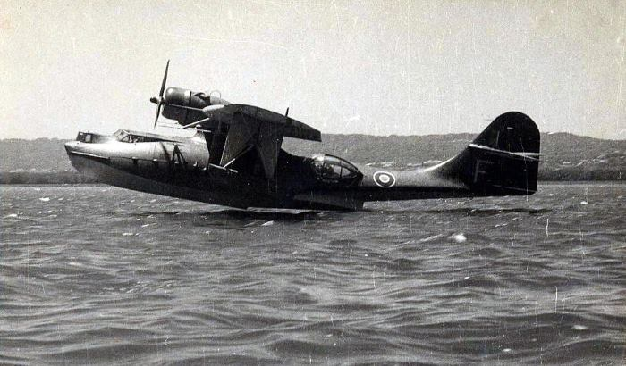 Royal Air Force PBY Catalina flying boat used for coastal patrol off the KZN coast during World War 2, seen here on Durban Bay, featured in Africa PORTS & SHIPS maritime news