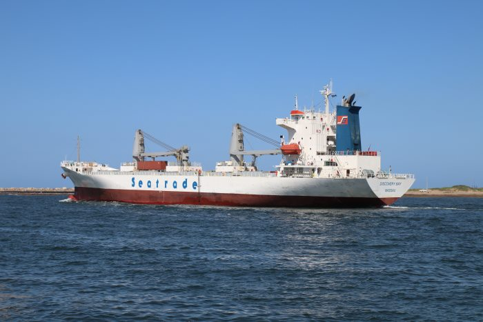Discovery Bay sailing from Durban. Pictures: Keith Betts, featured in Africa PORTS & SHIPS maritime news