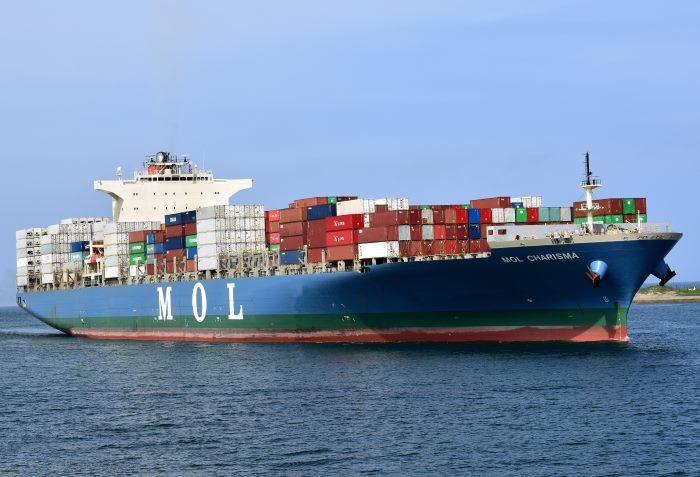 MOL Charisma. Picture: Trevor Jones, featured in Africa PORTS & SHIPS maritime news