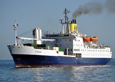 RMS St Helena in Cape Town. Picture: Ian Shiffman, featured in Africa PORTS & SHIPS maritime news