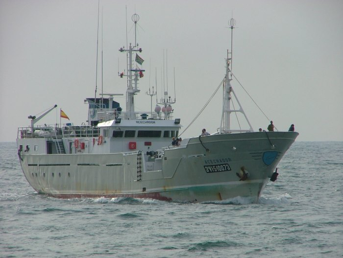 Spanish fishing vessel Acechador. Picture: Terry Hutson, appearing in Africa PORTS & SHIPS maritime news