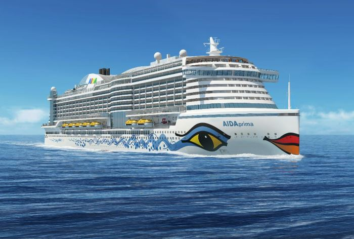 AIDAprima, AIDA's flagship, built in Japan, featuring in Africa PORTS & SHIPS maritime news