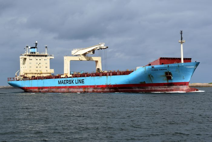 Clara Maersk. Picture: Trevor Jones, appearing in Africa PORTS & SHIPS maritime news