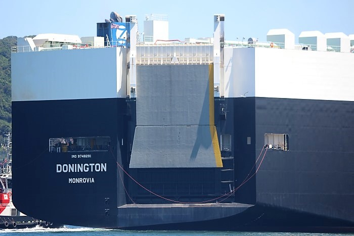 Donington arriving in Durban. Pictures by Keith Betts, featured in Africa PORTS & SHIPS maritime news