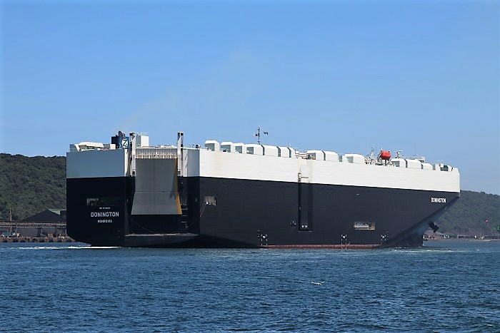 Donington arriving in Durban. Pictures by Keith Betts, featred in Africa PORTS & SHIPS maritime news
