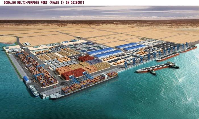 The Doraleh Multipurpose Terminal phase 1 in Djibouti, featuring in Africa PORTS & SHIPS maritime news
