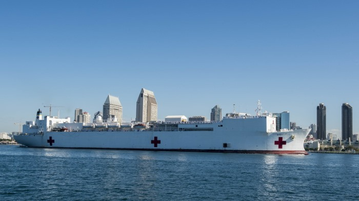 The hospital ship USNS Mercy (T-AH-19). Official US Navy file photo ©, featuring in Africa PORTS & SHIPS maritime news