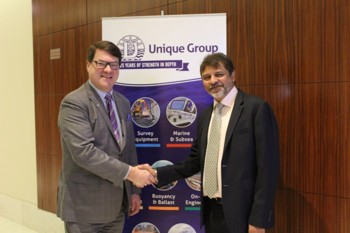 Konrad Mech (left and Harry Gandhi, appearing in Africa PORTS & SHIPS maritime news