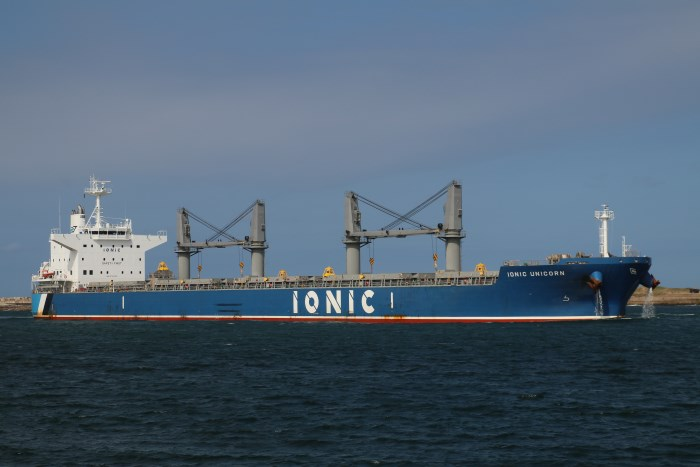 Ionic Unicorn. at Durban Picture: Keith Betts, appearing in Africa PORTS & SHIPS maritime news