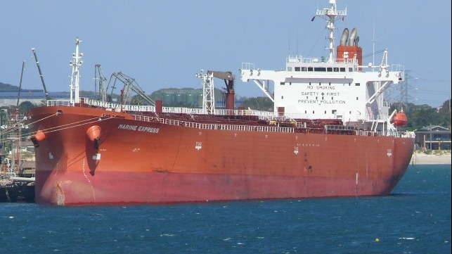 Marine Express. Picture: Shipping Database E Korpan, featured in Africa PORTS & SHIPS maritime news
