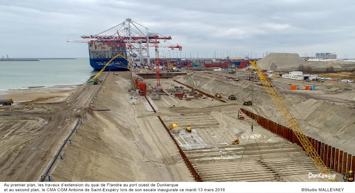 Dunkerque quay extension, featuring in Africa PORTS & SHIPS maritime news