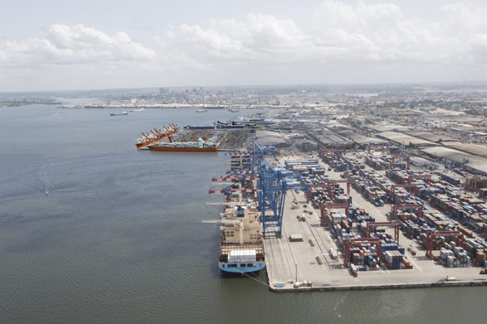 Port of Abidjan existing container terminal, appearing in Africa PORTS & SHIPS maritime news