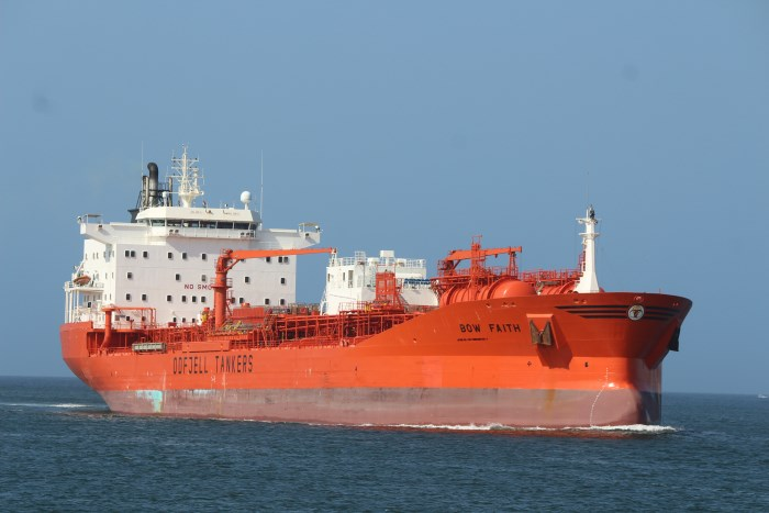 Bow Faith. Pictures: Keith Betts, appearing in Africa PORTS & SHIPS maritime news